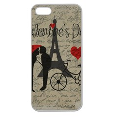 Love letter - Paris Apple Seamless iPhone 5 Case (Clear) by Valentinaart