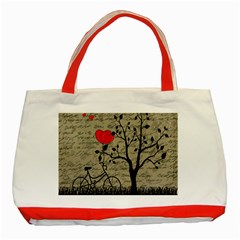 Love Letter Classic Tote Bag (red) by Valentinaart