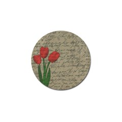 Vintage Tulips Golf Ball Marker (10 Pack) by Valentinaart