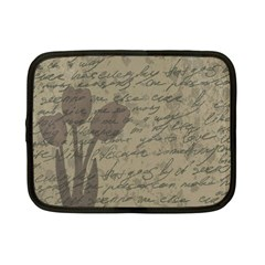 Vintage tulips Netbook Case (Small)  by Valentinaart