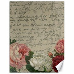 Vintage roses Canvas 18  x 24   by Valentinaart