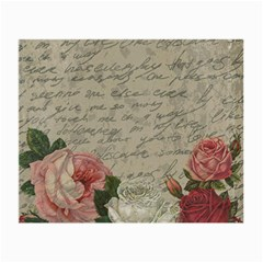 Vintage Roses Small Glasses Cloth (2 Side) by Valentinaart