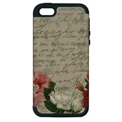 Vintage Roses Apple Iphone 5 Hardshell Case (pc+silicone) by Valentinaart