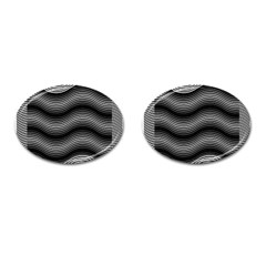 Two Layers Consisting Of Curves With Identical Inclination Patterns Cufflinks (oval) by Simbadda