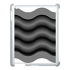 Two Layers Consisting Of Curves With Identical Inclination Patterns Apple Ipad 3/4 Case (white) by Simbadda