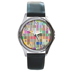 Overlays Graphicxtras Patterns Round Metal Watch by Simbadda