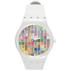 Overlays Graphicxtras Patterns Round Plastic Sport Watch (m) by Simbadda
