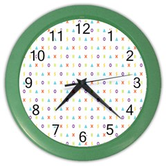 Sign Pattern Color Wall Clocks by Simbadda