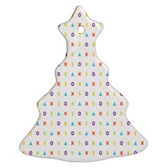 Sign Pattern Christmas Tree Ornament (two Sides) by Simbadda