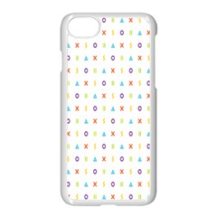 Sign Pattern Apple iPhone 7 Seamless Case (White) by Simbadda