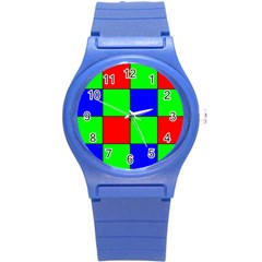 Bayer Pattern Round Plastic Sport Watch (s) by Simbadda