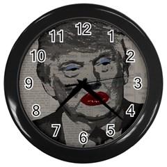 Transgender President    Wall Clocks (black) by Valentinaart