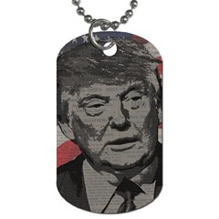 Trump Dog Tag (two Sides) by Valentinaart