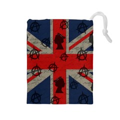 United Kingdom  Drawstring Pouches (large)  by Valentinaart