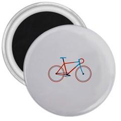 Bicycle Sports Drawing Minimalism 3  Magnets by Simbadda