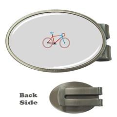 Bicycle Sports Drawing Minimalism Money Clips (oval)  by Simbadda