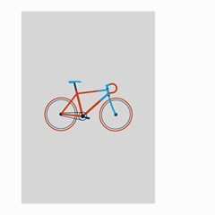 Bicycle Sports Drawing Minimalism Small Garden Flag (two Sides) by Simbadda