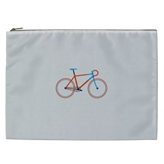 Bicycle Sports Drawing Minimalism Cosmetic Bag (xxl)  by Simbadda