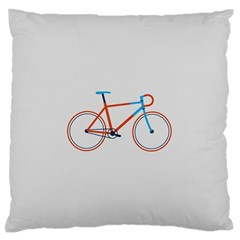 Bicycle Sports Drawing Minimalism Standard Flano Cushion Case (one Side) by Simbadda
