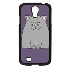 Cat Minimalism Art Vector Samsung Galaxy S4 I9500/ I9505 Case (Black)