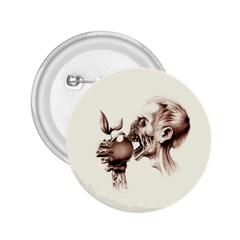 Zombie Apple Bite Minimalism 2 25  Buttons by Simbadda