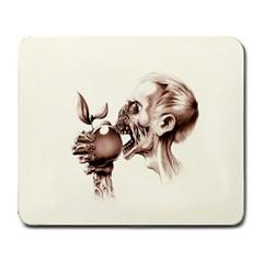Zombie Apple Bite Minimalism Large Mousepads by Simbadda