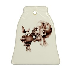 Zombie Apple Bite Minimalism Bell Ornament (two Sides) by Simbadda