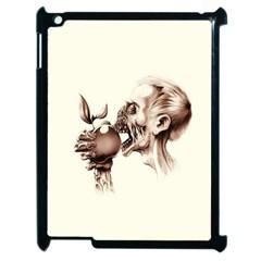 Zombie Apple Bite Minimalism Apple iPad 2 Case (Black) by Simbadda
