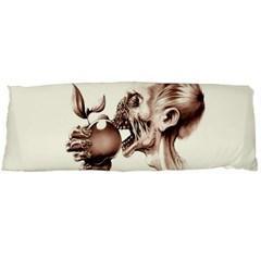 Zombie Apple Bite Minimalism Body Pillow Case Dakimakura (two Sides) by Simbadda