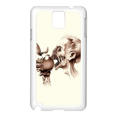Zombie Apple Bite Minimalism Samsung Galaxy Note 3 N9005 Case (white) by Simbadda