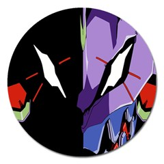 Monster Face Drawing Paint Magnet 5  (Round) by Simbadda