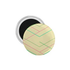 Abstract Yellow Geometric Line Pattern 1.75  Magnets by Simbadda