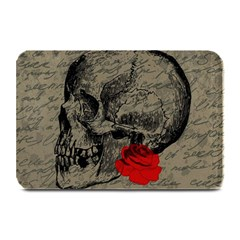 Skull And Rose  Plate Mats by Valentinaart