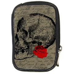 Skull And Rose  Compact Camera Cases by Valentinaart