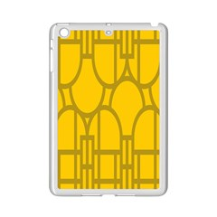 The Michigan Pattern Yellow Ipad Mini 2 Enamel Coated Cases by Simbadda