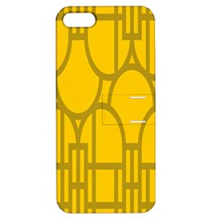 The Michigan Pattern Yellow Apple iPhone 5 Hardshell Case with Stand by Simbadda