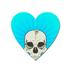 Skull Ball Line Schedule Heart Magnet by Simbadda