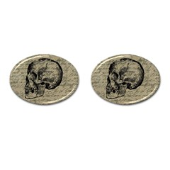 Skull Cufflinks (oval) by Valentinaart