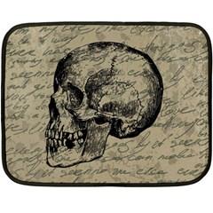 Skull Fleece Blanket (mini) by Valentinaart