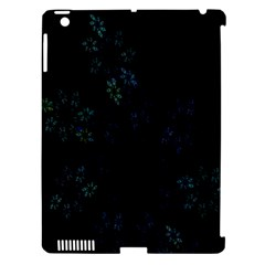 Fractal Pattern Black Background Apple Ipad 3/4 Hardshell Case (compatible With Smart Cover) by Simbadda
