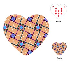 Overlaid Patterns Playing Cards (heart)  by Simbadda