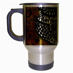 Vintage Rooster  Travel Mug (silver Gray) by Valentinaart