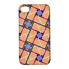 Overlaid Patterns Apple Iphone 4/4s Hardshell Case With Stand by Simbadda