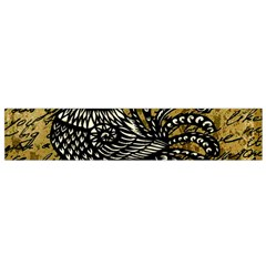 Vintage Rooster  Flano Scarf (small) by Valentinaart