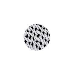 Black And White Pattern 1  Mini Buttons by Simbadda