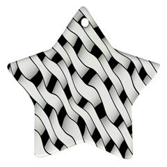 Black And White Pattern Ornament (star) by Simbadda
