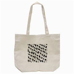 Black And White Pattern Tote Bag (Cream)