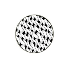 Black And White Pattern Hat Clip Ball Marker (10 Pack) by Simbadda