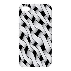 Black And White Pattern Apple Iphone 4/4s Hardshell Case by Simbadda
