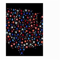 America Usa Map Stars Vector  Large Garden Flag (two Sides) by Simbadda